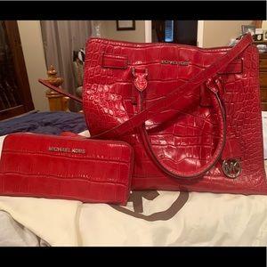 Alligator skin Authentic Michael Kors purse